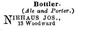 Excerpt from the 1860 Williams' Cincinnati City Directory
